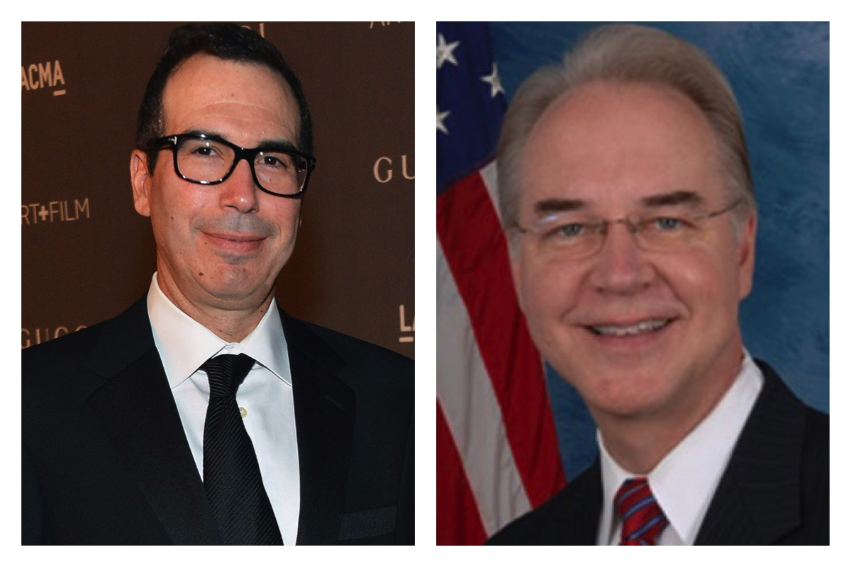 Steve Mnuchin and Tom Price